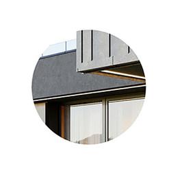 DETAIL - Black Modern House 10 With Garag