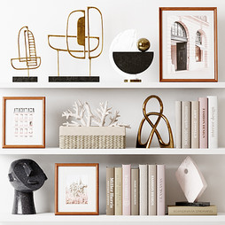 Deco - Decor Set 114 With Metal Sculptures