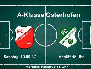 7.Spieltag: Vorbericht FC Reichstorf-FC Obergessenbach