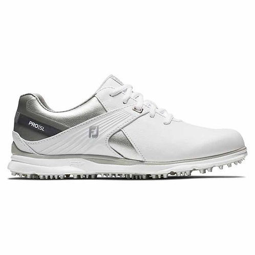 FootJoy Ladies Pro SL Wide-Fit Shoes White - Silver