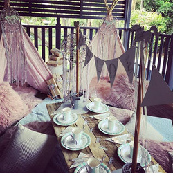Chloe #unicornparty #childrensparty #kidspartyinspiration #kidspartyideas  #rusticdecor #rustictable