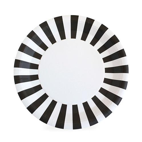 Paper Plate Black Tie 12 PCS