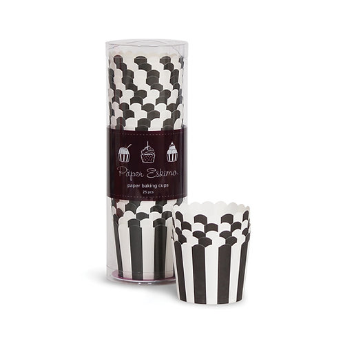 Cup Cake Holders Black & White Striped
