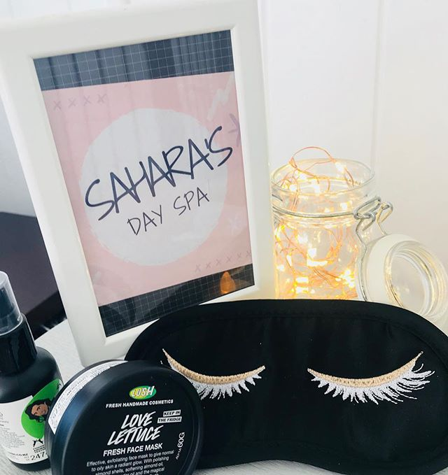 ✨Sahara's Day Spa ✨#tweensleepover #sleepoverparty #sleepoverfun #sleepoverparty #pampertime #eyemas