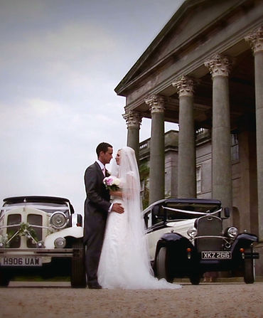 Still from a wedding video filmed at Wynyard Hall, Teeside