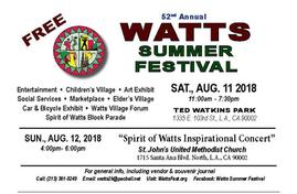 Watts Summer 2018.