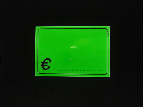 SEGNAPREZZO FLUO PVC riutilizzabili con simbolo €