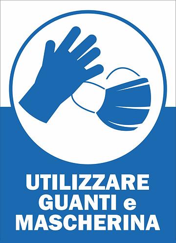 Cartelli cm 25x35 Utilizzare guanti e mascherina