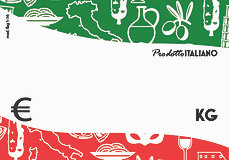 Segnaprezzi flag PRODOTTO ITALIANO