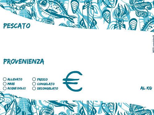 Segnaprezzi riscrivibili per Pescheria mod. seawhite/8