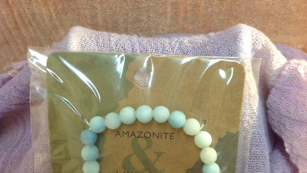 Lava Beads - Amazonite
