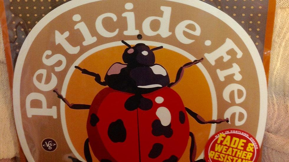 Pesticide Free Garden Sign