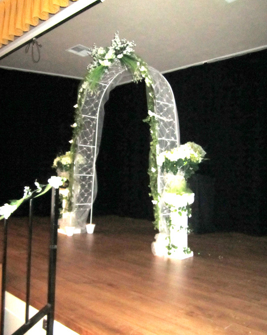 Stage used for vows
