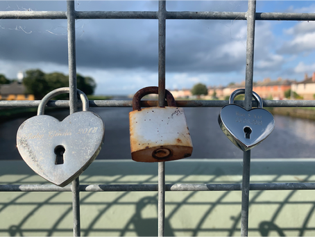 OUR LOVE LOCKS ON A BRIDGE IN A SMALL SCOTTISH TOWN ARE MORE THAN A COINCIDENCE