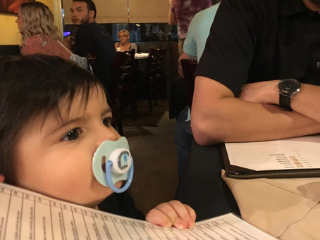 I'M MISERABLE WHEN WE GOT OUT TO DINNER WITH OUR SON