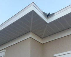 Soffit Work with Mitered Corner