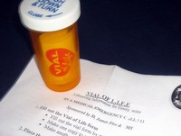 Vial of Life Form and Instructions