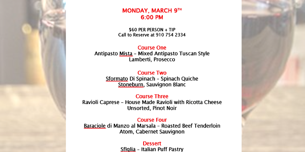 Four-Course Wine Dinner at Angelo's