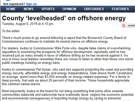 Response to Praise From an Oil Industry Advocacy Group