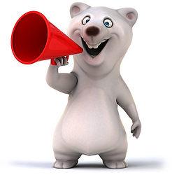 Polar Bear with Megaphone