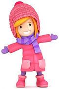 Girl in Pink Winter Coat