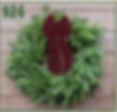 Wreath with Burgundy Ribbon