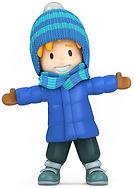 Boy in Blue Winter Coat