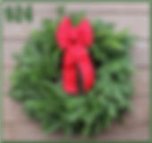 Wreath with Red Ribbon