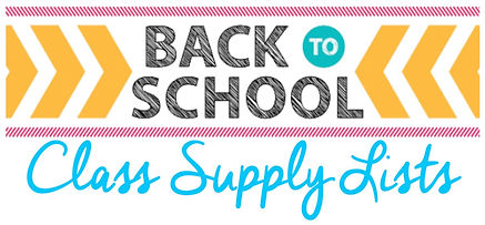 Back to School Class Supply Lists