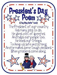 President's Day Poem