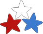 Red, White and Blue Stars 3