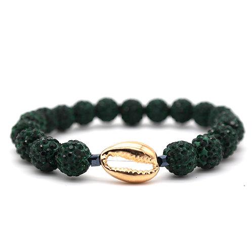 D O W R Y in emerald.