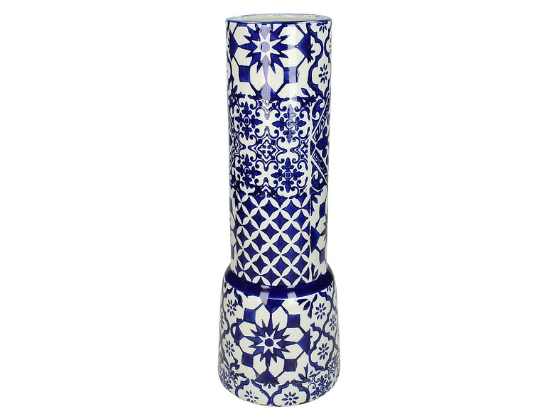 VASE FINE EARTHENWARE BLUE