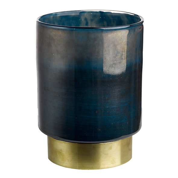 CANDLE HOLDER BELT DIFFERENT COLOURS M BLUE