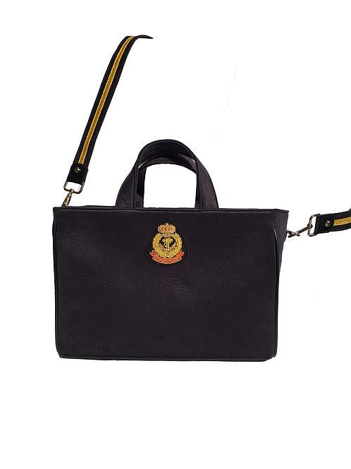 Patrimony Velvet Tote Bag Black