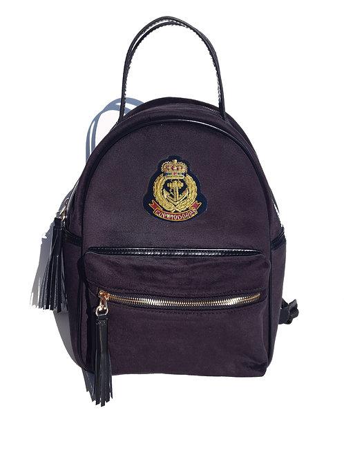 Patrimony Velvet Backpack Black