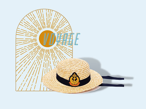 Straw Hat with Patrimonial Crest