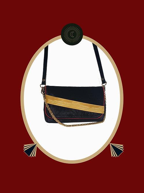 Memduha in Black Velvet Evening Bag