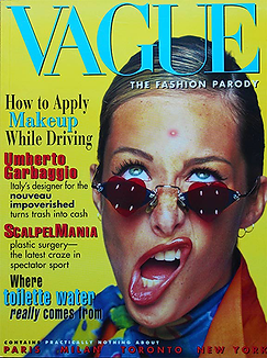 The front cover of Vague The Fashion Parody by Thomas Hagey