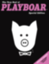 The cover of the new parody book The Very Best of Playboar by Thomas Hagey