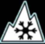 Winter Tire Mountain Snowflake