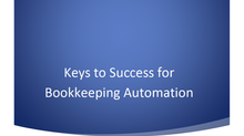 Keys to Success for Bookkeeping Automation