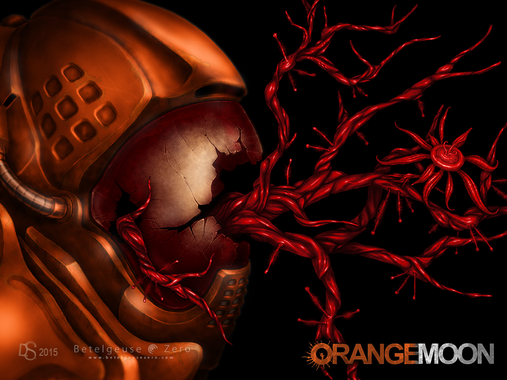 Orange Moon 2d platformer Cover Art