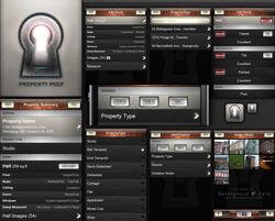 Property Peep iOS app UI design