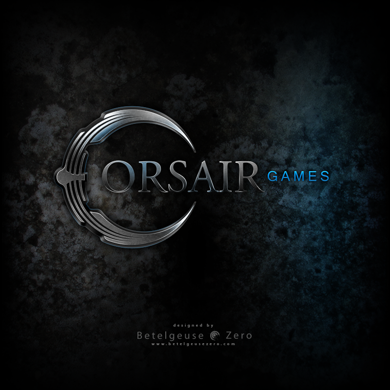 Corsair Games logo design
