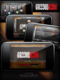 Groove Boxx app UI design