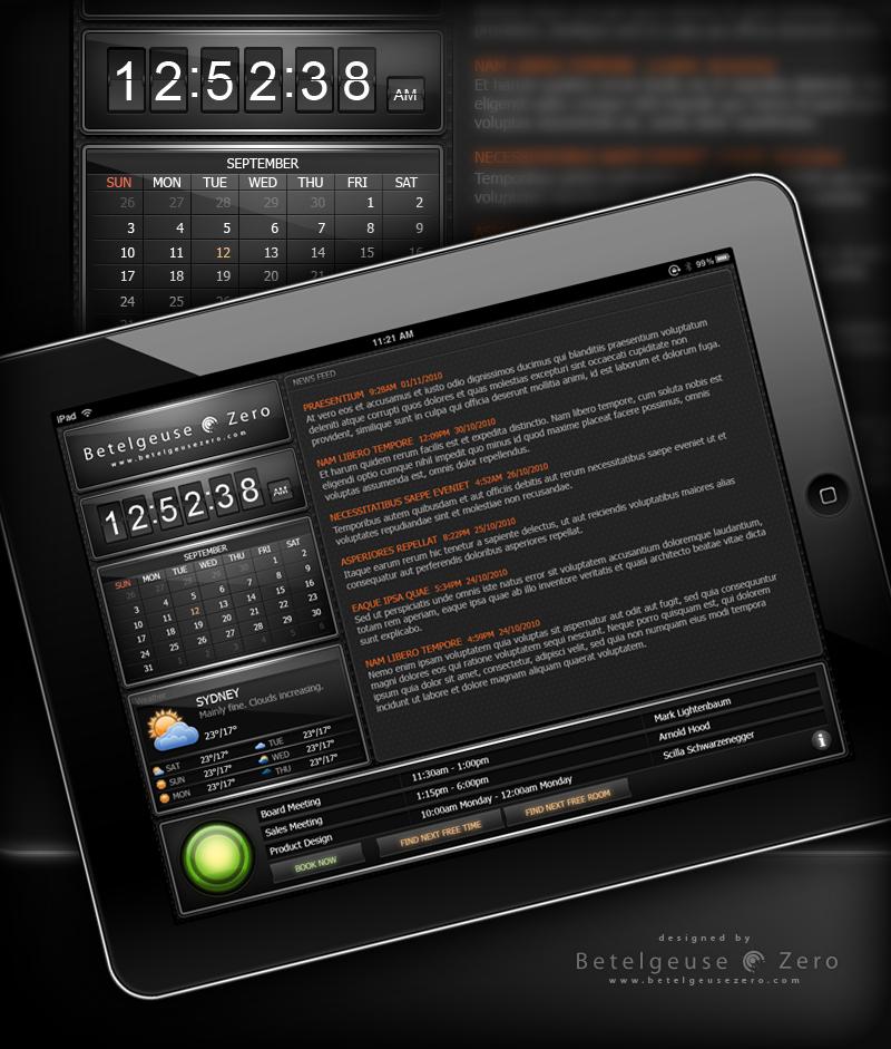 Meeting rooms booking app UI design
