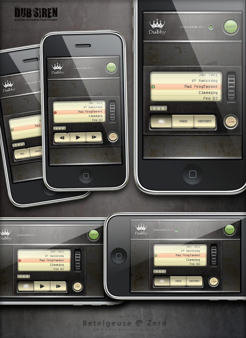 DUB Siren Pro app UI design