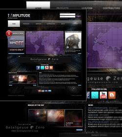 Space Themed Website design