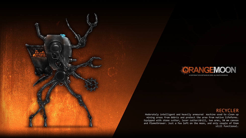 Orange Moon game Recycler boss